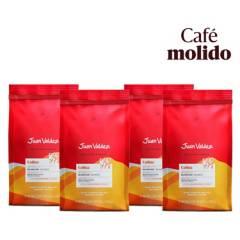 Juan Valdez - Pack 4x Café Grano Molido Balanceado Colina 250 g
