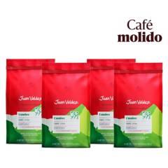 Juan Valdez - Pack 4x Café Grano Molido Fuerte Cumbre 250 g