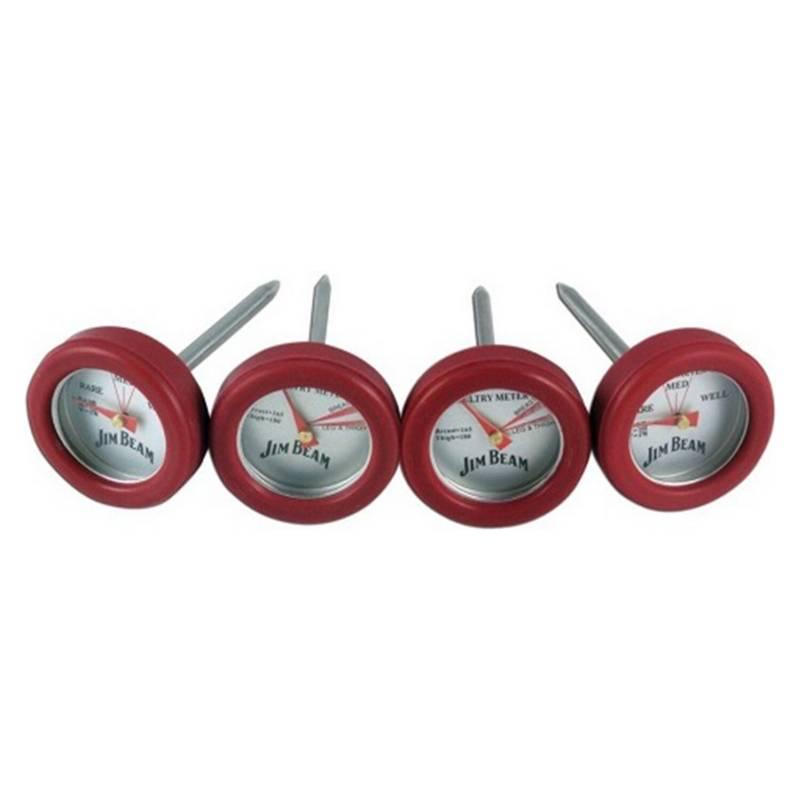 Jim Beam - Set 4 Mini Termometros Para Carnes Y Pollo