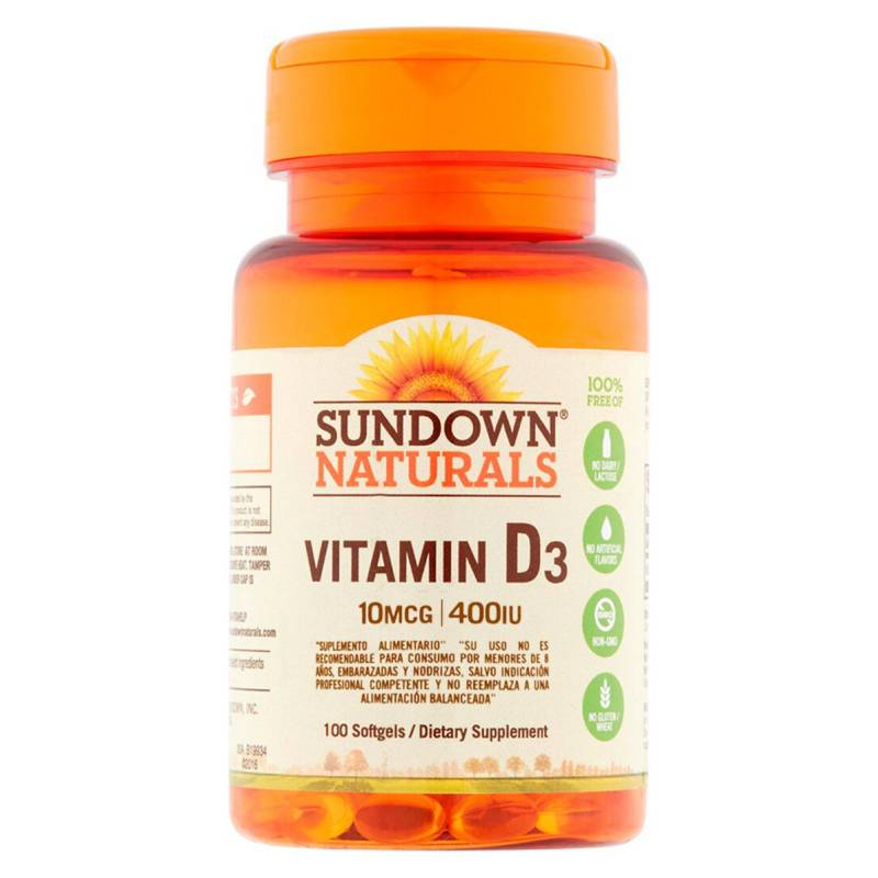 SUNDOWN NATURALS - Vit D 400 Iu - 100 Soft Esp Sd