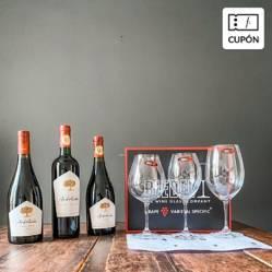 WINE HOUSE - Cata de Vinos y Copas. Incluye Caja de 3 vinos y 3 copas + Clase online en vivo