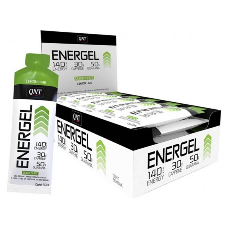 QNT - Caja de 25 Geles Energéticos Energel Sabor Limón