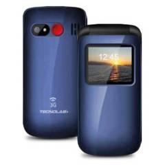 TECNOLAB - Teléfono Celular Senior Adulto Mayor 3G Boton SOS