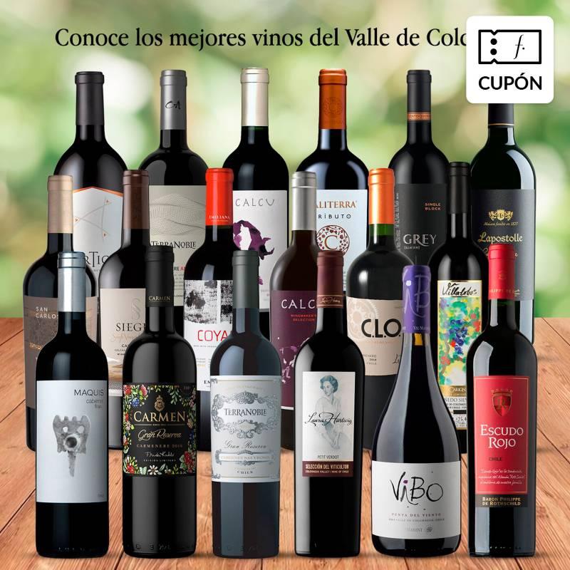 EL MUNDO DEL VINO - 18 vinos Valle de Colchagua. Despacho gratis
