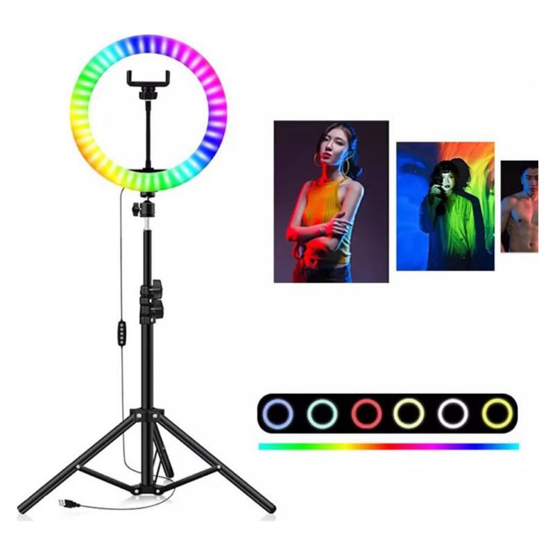 Aro de Luz Colores RGB Trípode y Soporte Celular