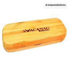 AVACANAO - Set Bolígrafo Estuche de Bamboo Tinta Negra