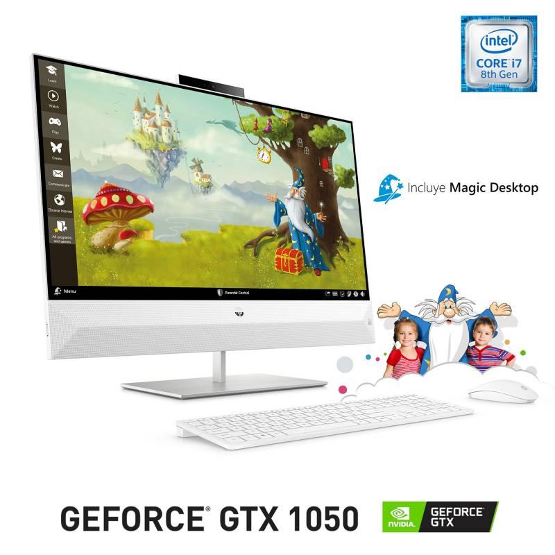 "Hp - All In One Intel Core i7 16GB RAM 1TB HDD NVIDIA GeForce GTX 1050 27"""