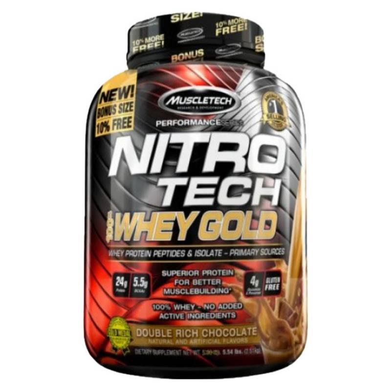 MUSCLETECH - Proteina Nitro Whey Gold 5.5 Lb Chocolate