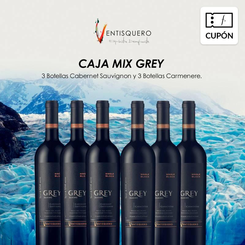 Ventisquero - 12 Botellas de vino Grey mix. Incluye despacho RM