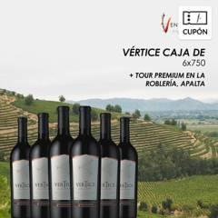 Ventisquero - Cupón para Caja de 6 vinos Vertice Blend Carmenere + REGALO Tour Premium Viñedo La Roblería  Apalta, incluye despacho RM