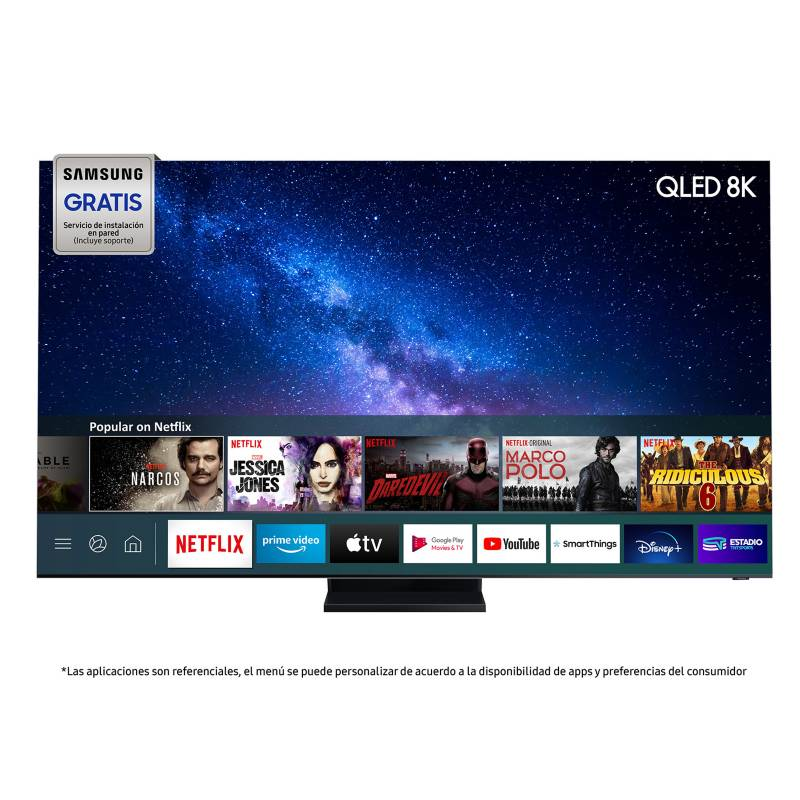 "SAMSUNG - QLED 85"" Q950T 8K  Smart TV"