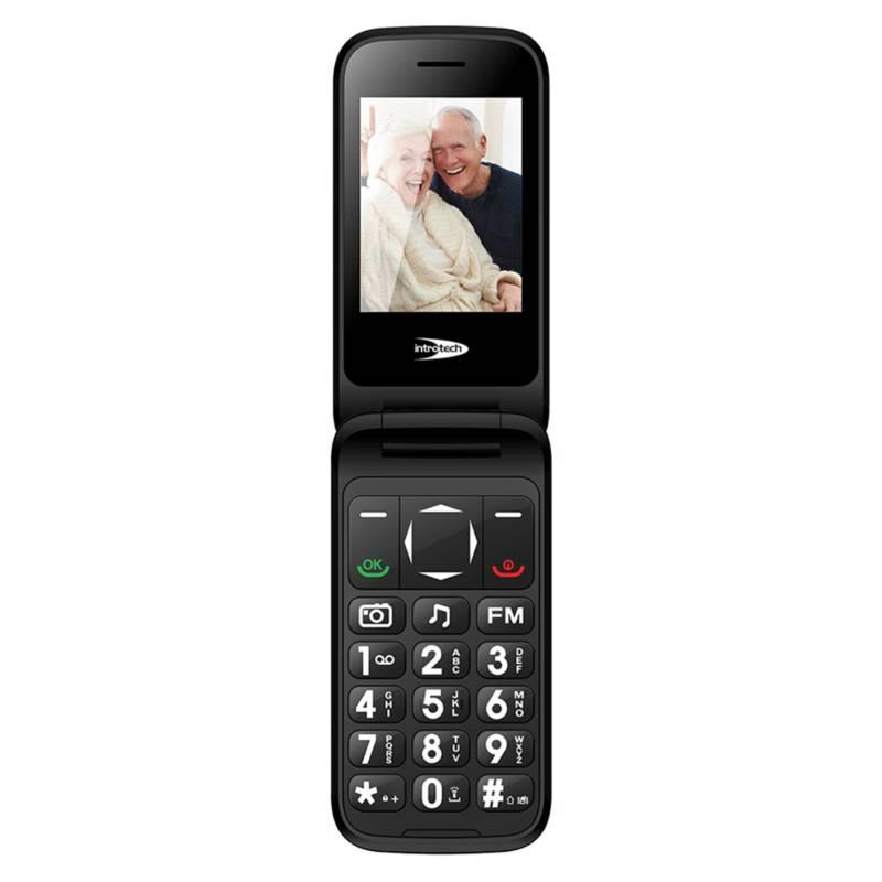 Introtech - Teléfono Móvil Senior 3G Tipo Almeja
