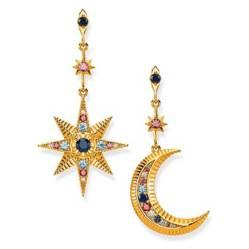 THOMAS SABO - Royalty Moon  Star Gold