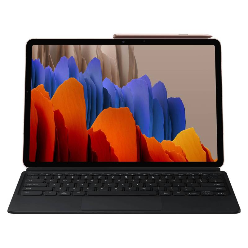 "Samsung - Galaxy Tab S7 + Keyboard Cover (11"", 256GB, WIFI, Cooper)"