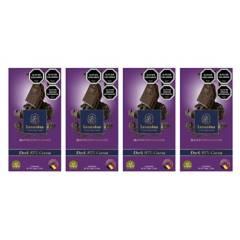 LEONIDAS - Pack 4 Barras 100G Dark 85% Chocolate Belga