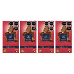 LEONIDAS - Pack 4 Barras 100G Milk 30% Chocolate Belga