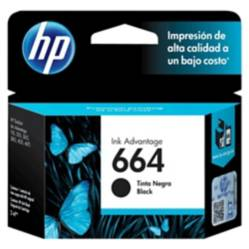 Hp - Cartucho De Tinta Hp 664 Negra Original