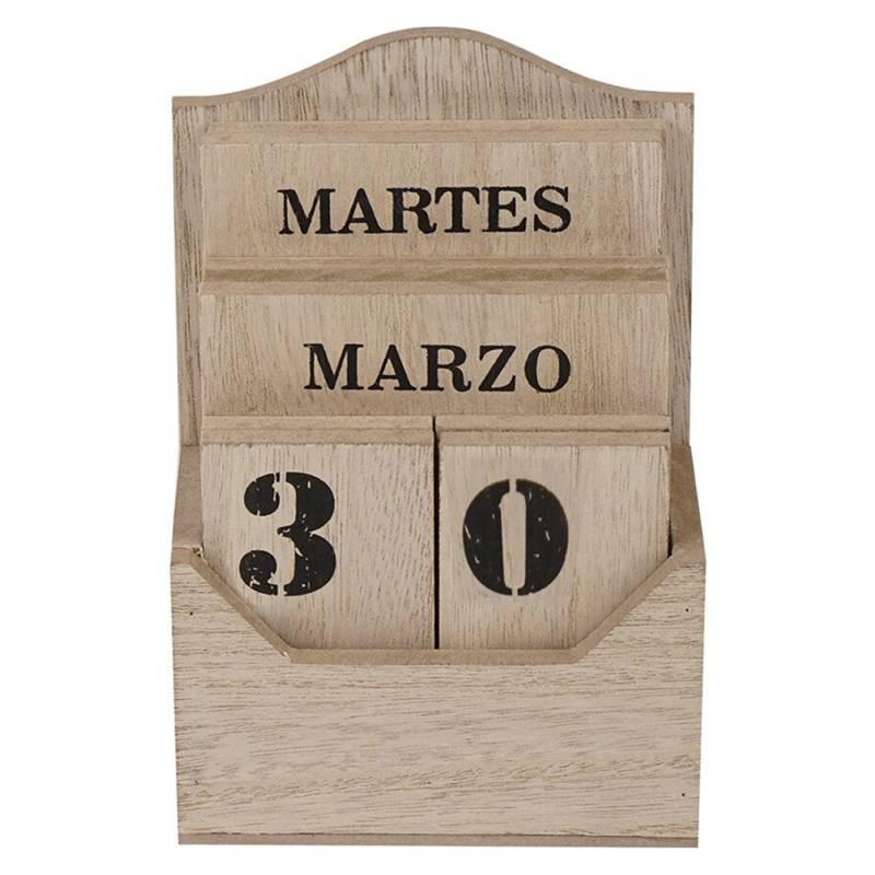HOMEWELL CARE SERVICES - Calendario de Madera 5.5x10x15cm