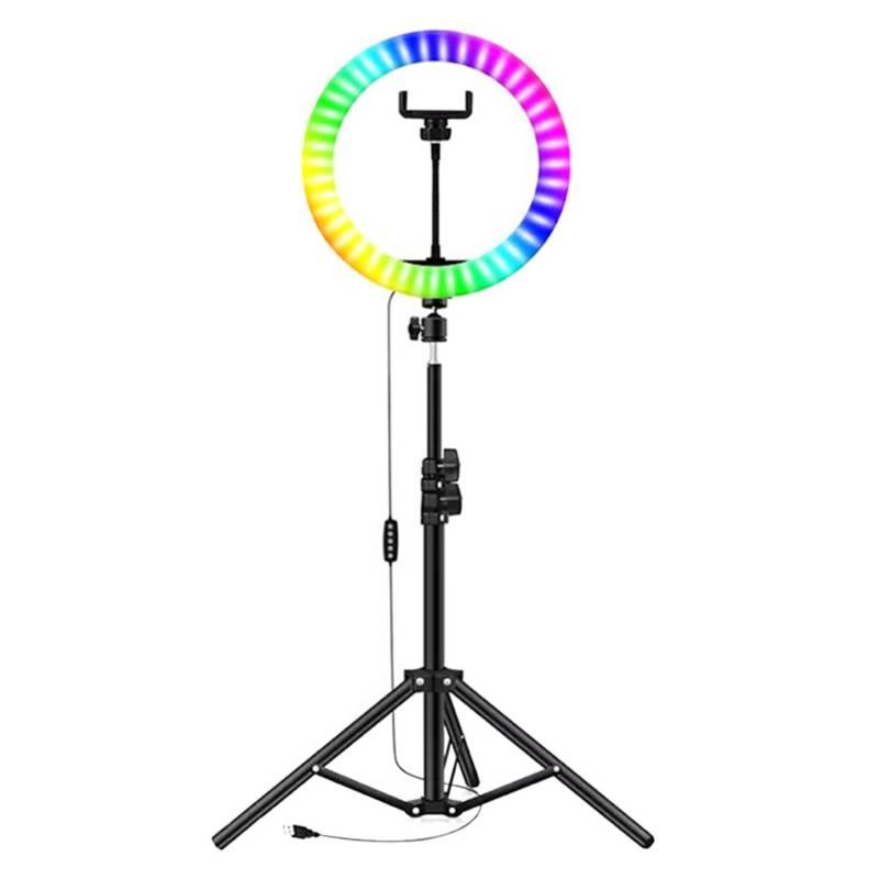Aro de Luz Colores 33 cm Trípode y Soporte Celular