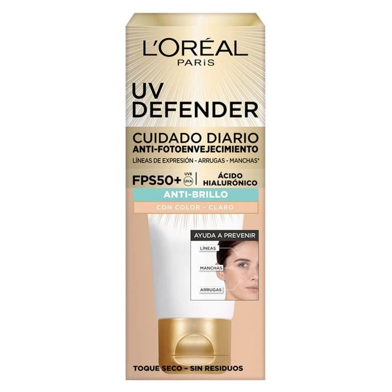 Dermo Expertise - Crema Diaria Uv Defender Fps 50 Anti Brillo Tono Claro