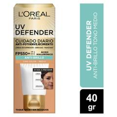 Dermo Expertise - Crema Diaria Uv Defender Fps 50 Anti Brillo Tono Medio