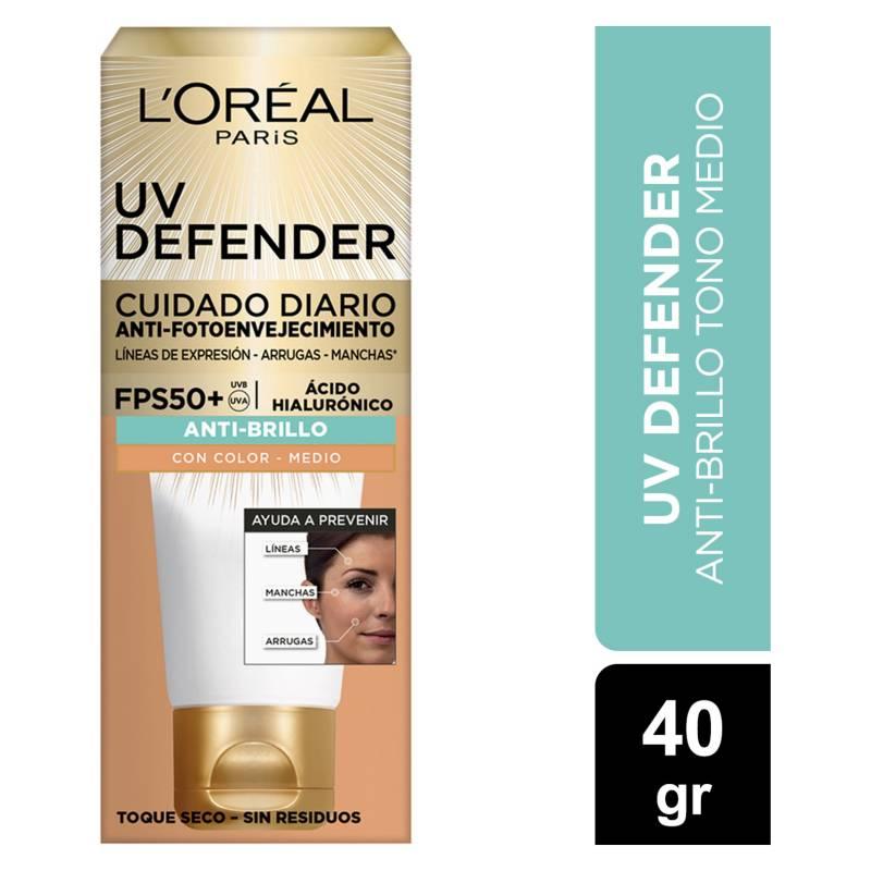 Dermo Expertise - Crema Diaria Uv Defender Fps 50 Anti Brillo Tono Medio