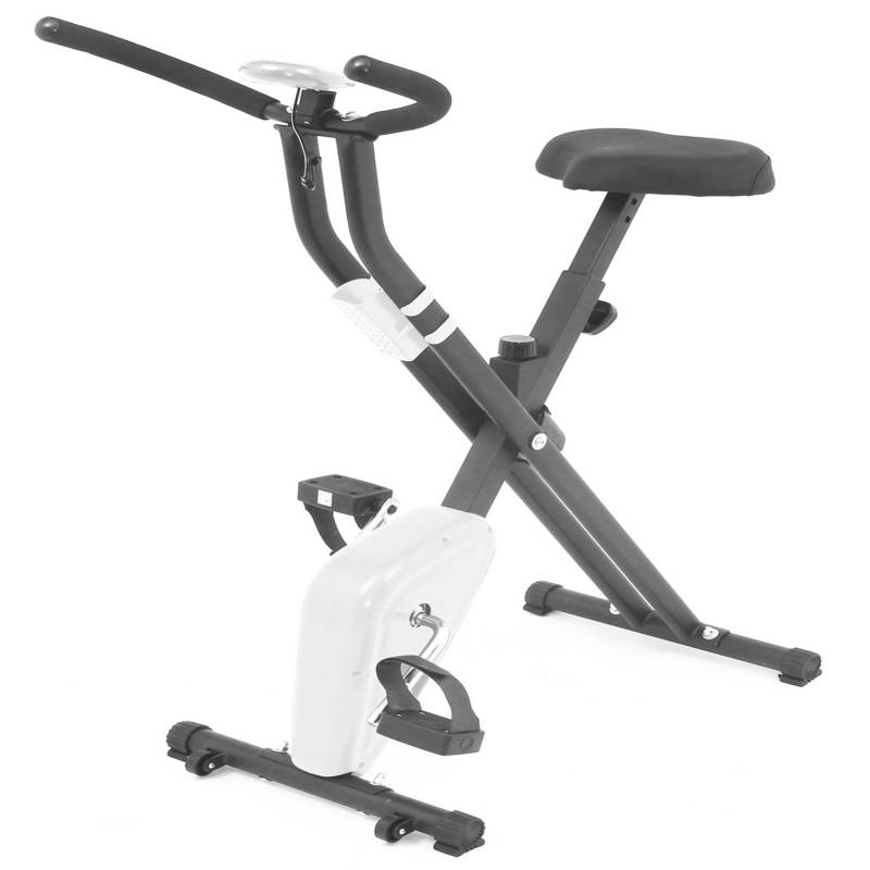 BASKO FITNESS - Bicicleta Estatica Plegable Blanco
