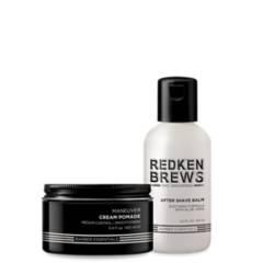 REDKEN - Set Hombre Cera Maneuver 100 ml + After Shave 125 ml Brews