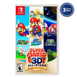 Nintendo - Videojuego Super Mario 3D All Star Switch+Stickers