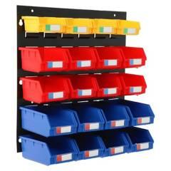 AUTORODEC - Organizador De Pared Con 20 Cajas Plástica 46X48Cm