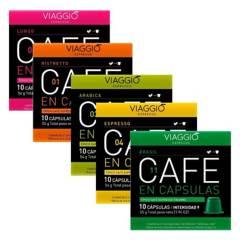 VIAGGIO ESPRESSO - Pack 50 Cápsulas Mix Café Viaggio