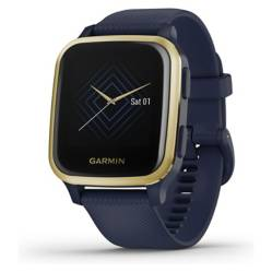 Garmin - Smartwatch Venu Sq Music Navy/Light Gold
