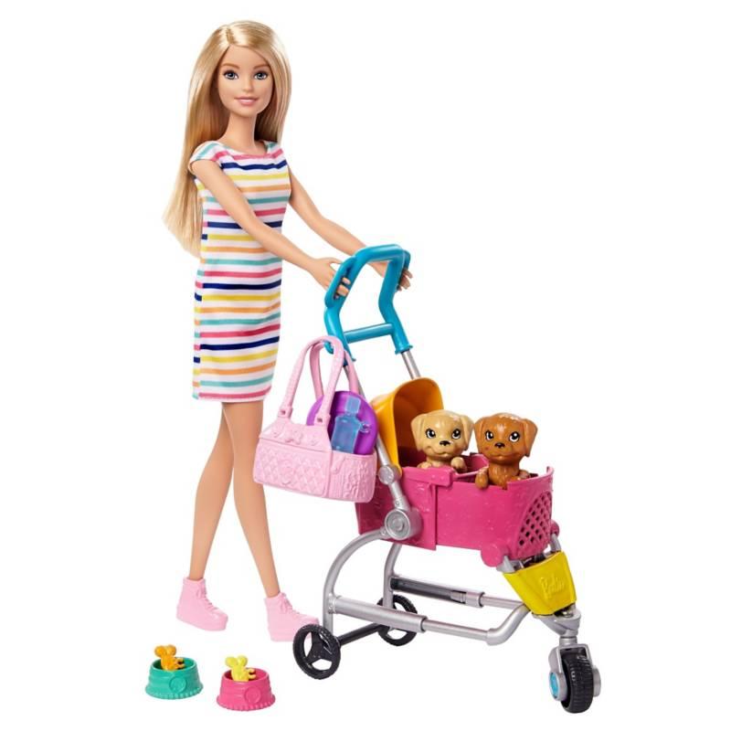 BARBIE - Barbie Carriola De Perritos
