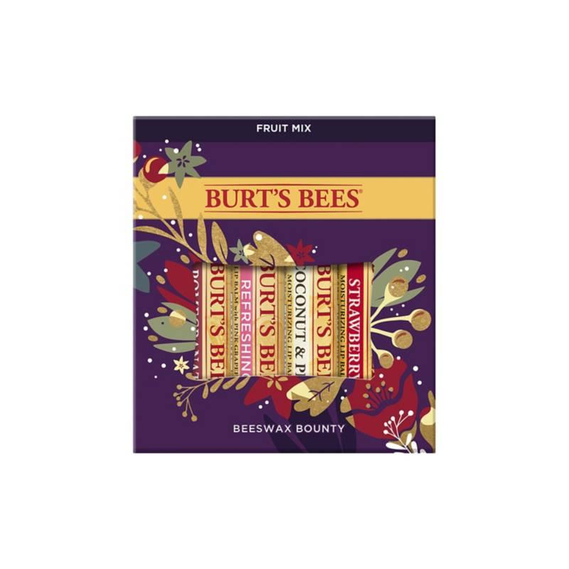 BURTS BEES - Kit Mezcla de Frutas Bálsamos con Cera de Abejas