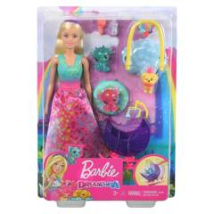 BARBIE - Muñeca Barbie Muñeca Y Dragón Bebé