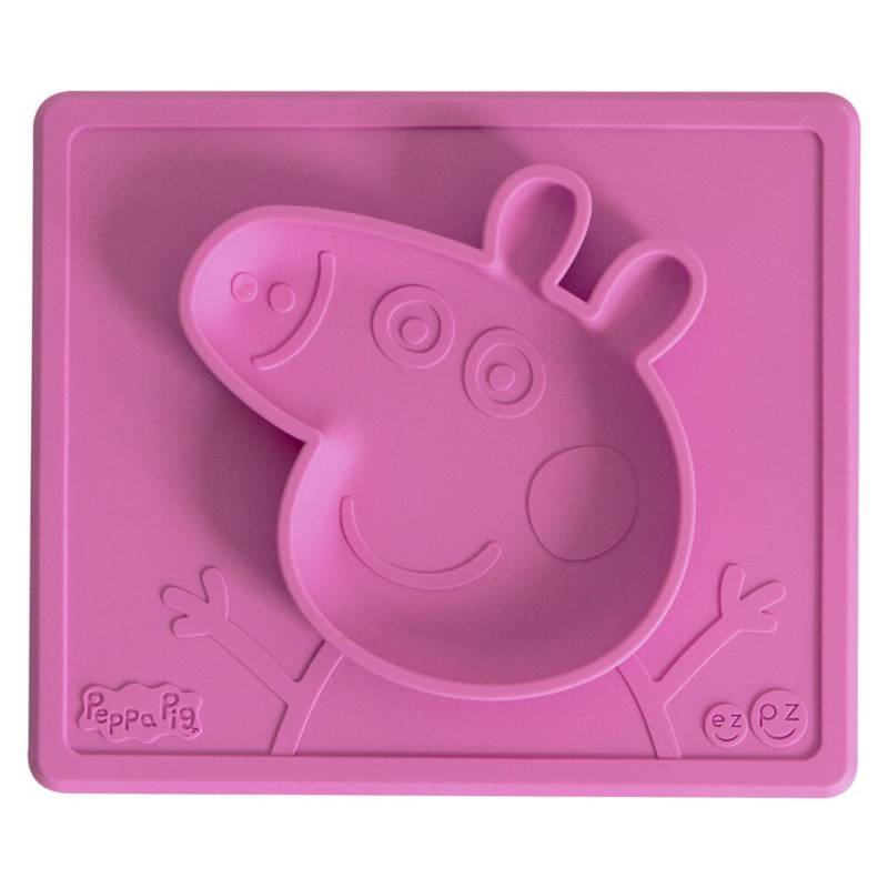 EZPZ - Individual   Plato Ezpz  Pepa Pig Pink