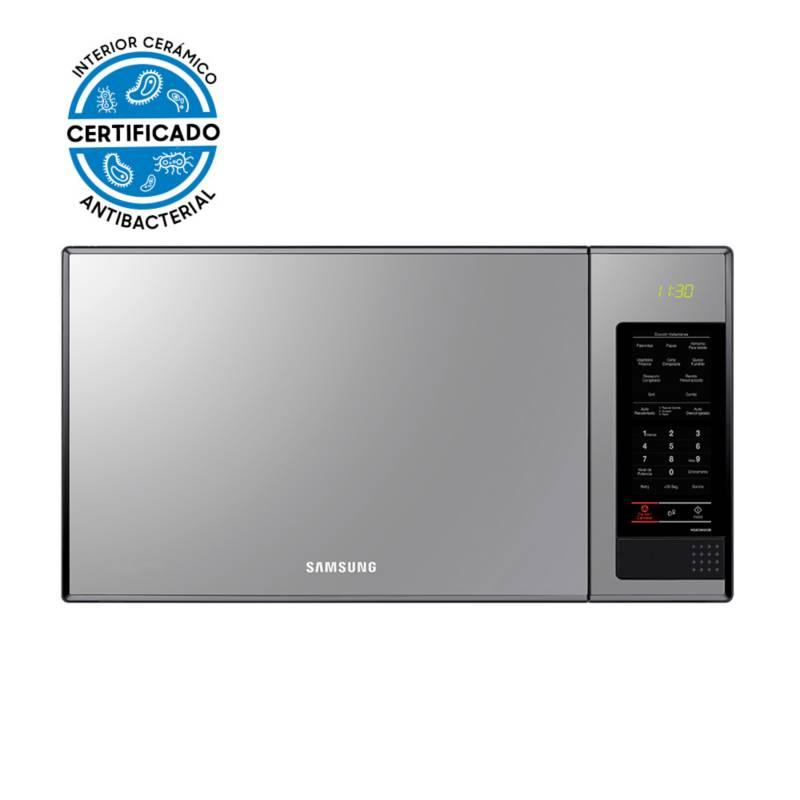Samsung - Microondas Grill Espejado con Esmalte Cerámico 40 Lts
