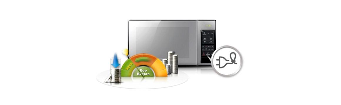 Samsung Microondas Grill Espejado con Esmalte Cerámico, 40 Lts, MG402MADXBB/GI