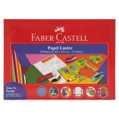 FABER - Carpetas Papel Lustre 20 Pliegos 1