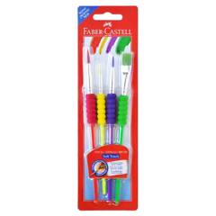 FABER - PINCEL SOFT TOUCH BLISTER 4 TIPOS