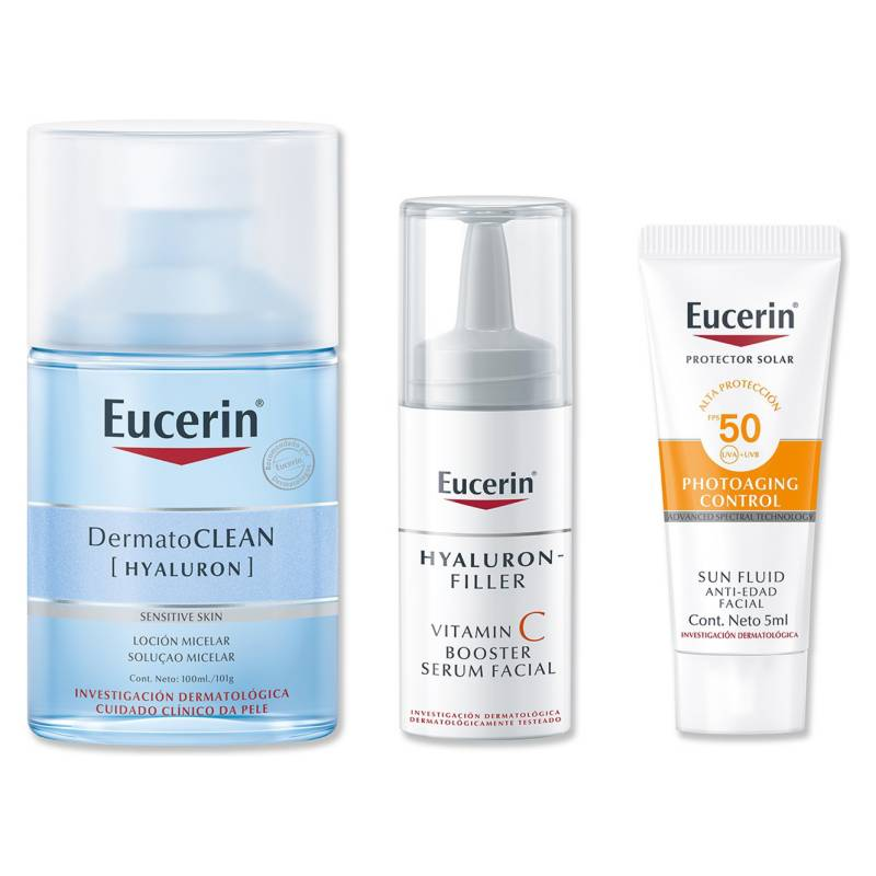 EUCERIN - Set Dermatoclean Micelar 100 ml + Serum Facial Hf Vitamin C 8 ml