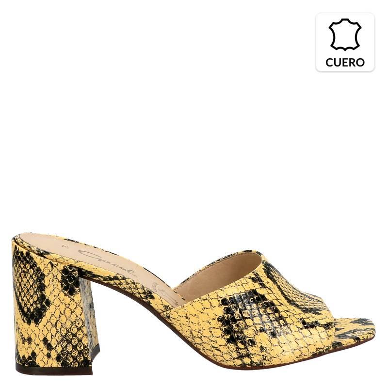 GACEL - Sandalia de Cuero Mujer Amarillo