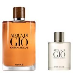 GIORGIO ARMANI - Set Perfume Hombre Acqua Di Gio Absolu 200 ml + Acqua Di Gio Edt 30 ml