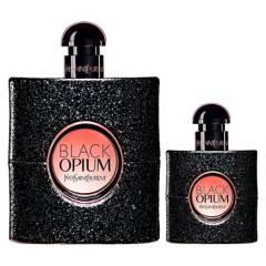 YVES SAINT LAURENT - Set Perfume Mujer Black Opium EDP 90ML + Black Opium EDP 30ML Yves Saint Laurent