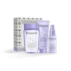 KERASTASE - Set Blond Absolu Cabello Rubio o Decolorado Shampoo 80 ml + Acondicionador 75 ml + Sérum 45 ml