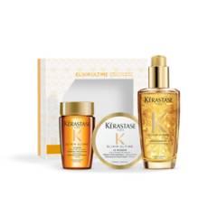 KERASTASE - Set Elixir Ultime Brillo Sublime Shampoo 80 ml + Máscara 75 ml + Aceite 100 ml