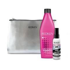 REDKEN - Set Color Extend Magnetics Shampoo 300 ml + One United 30 ml y Estuche de regalo