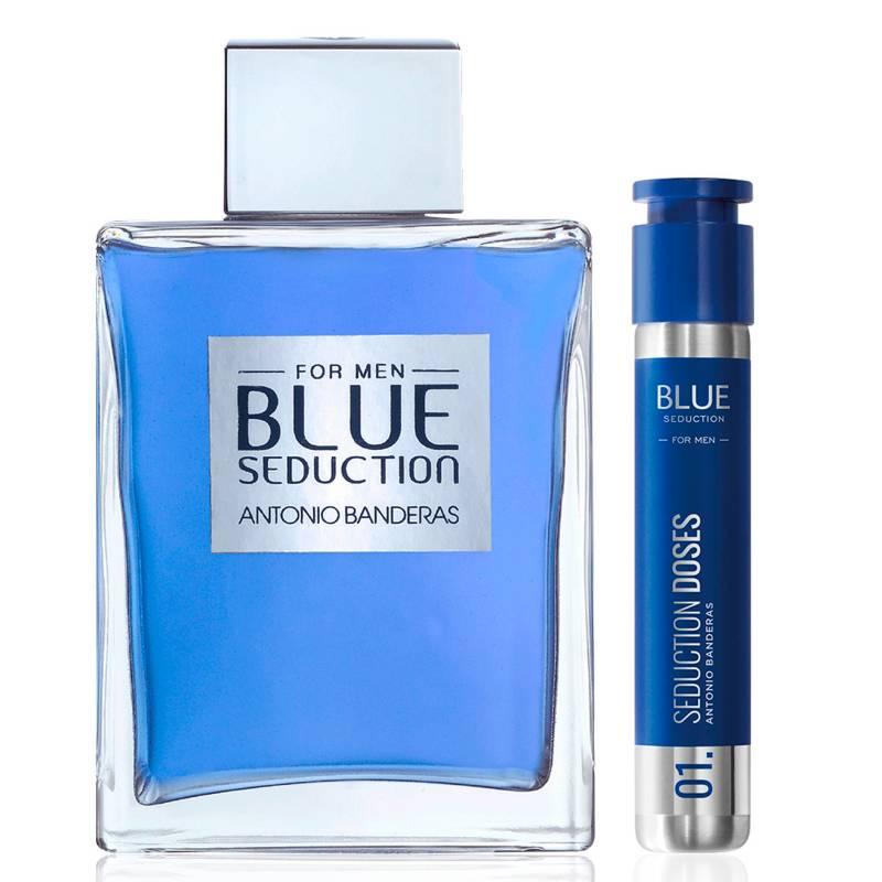 ANTONIO BANDERAS - Set Perfume Hombre Blue Seduction 200 ml Edt + Blue Seduction Doses Edt 30 ml