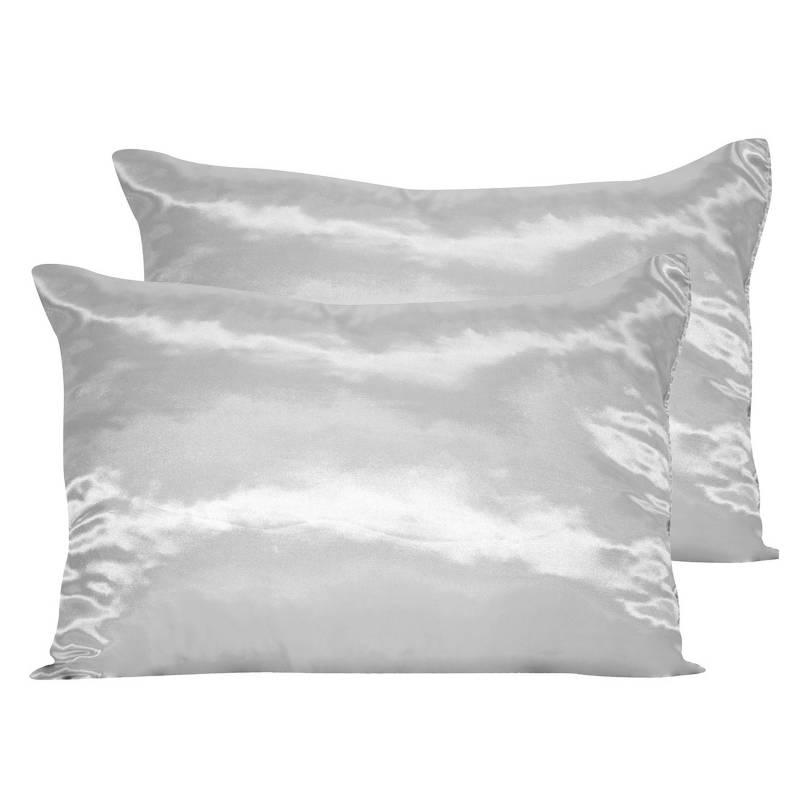 Fibrasca - Pack 2 Almohadas de Fibra Plateado Antivirus 40x60