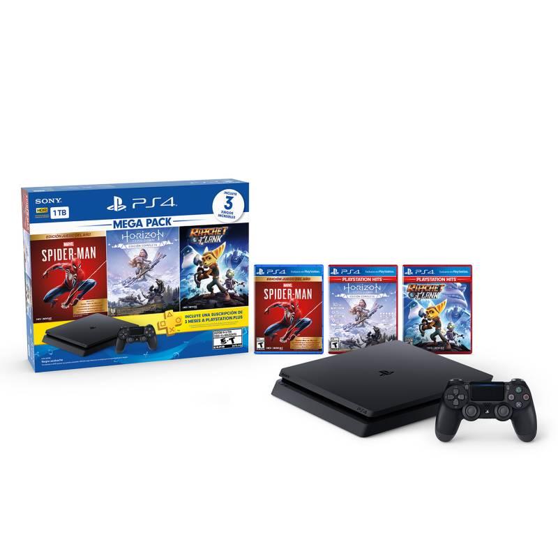 Sony - PlayStation MEGA PACK 15 (Spider-Man, Horizon Zero Dawn, Ratchet & Clank)